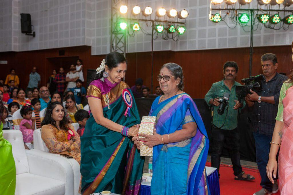 Geetha Saraswathy with Respected Madam Thamizhatchi Thangapandian