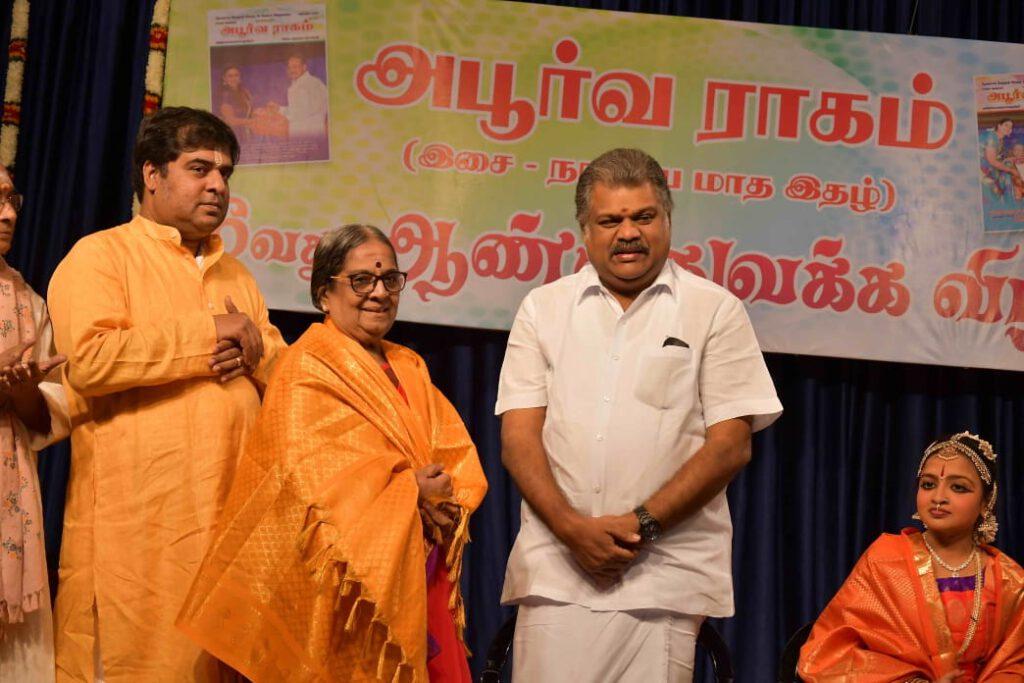 Geetha Saraswathy with Respected Mr.G K Vasan