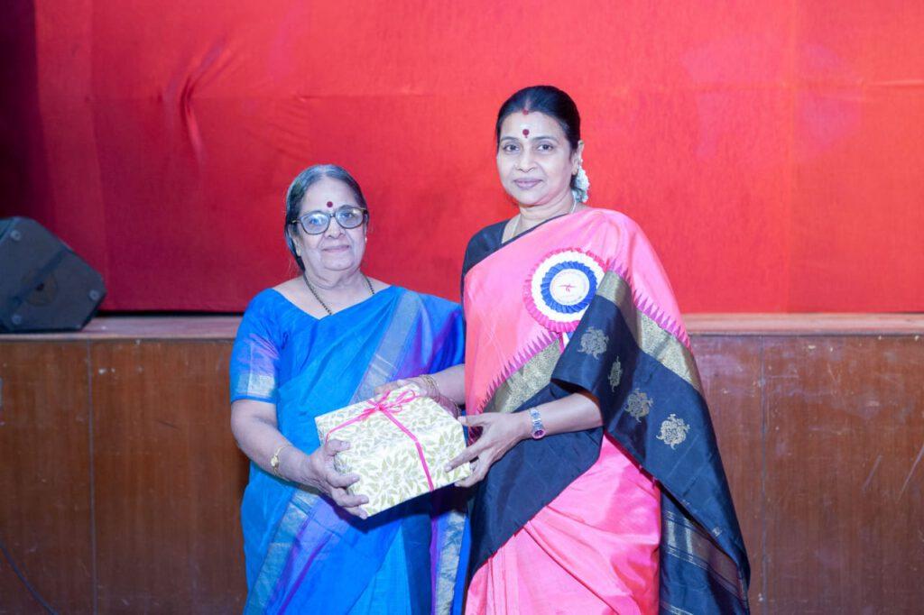 Geetha Saraswathy with Respected Mrs.Durga Stalin